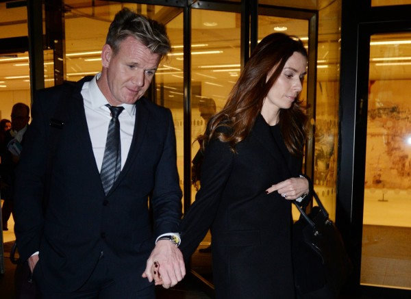Chef Gordon Ramsay leaves the High Court in London with his wife Tana as he told a High Court judge that he reacted with