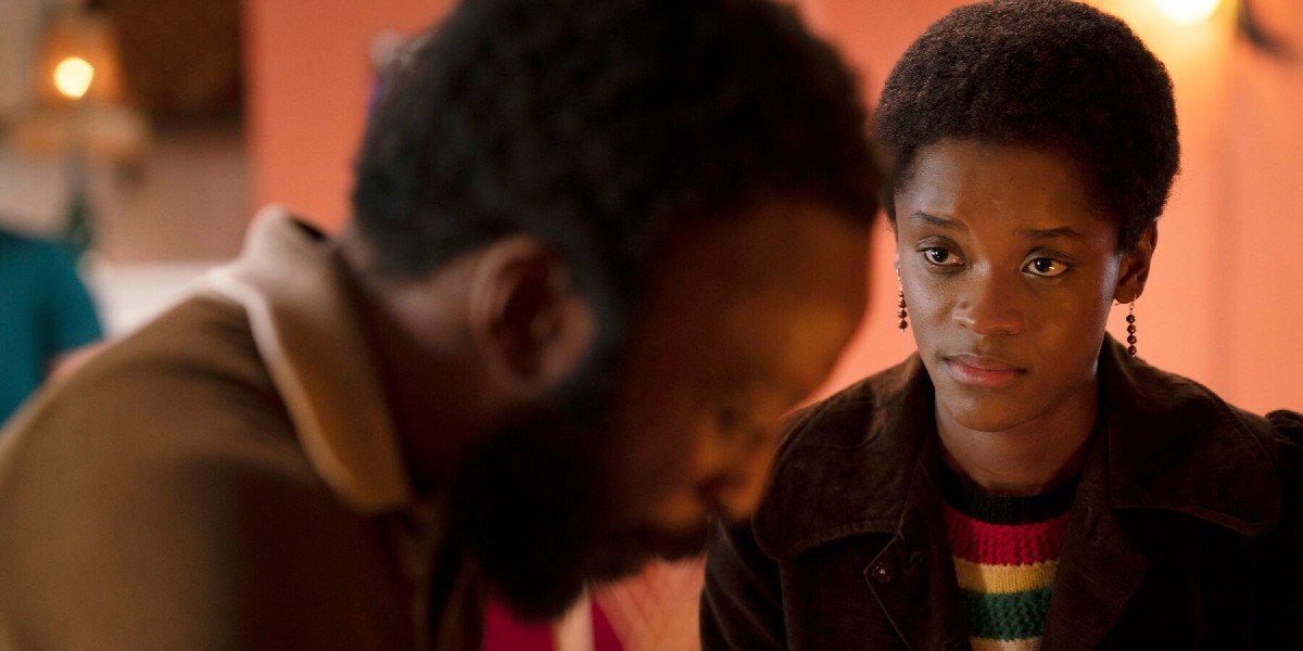 Letitia Wright and Shaun Parkes in Small Axe: Mangroove