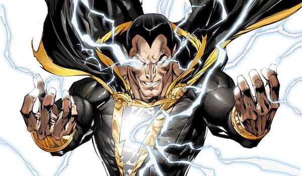Black Adam with lightening