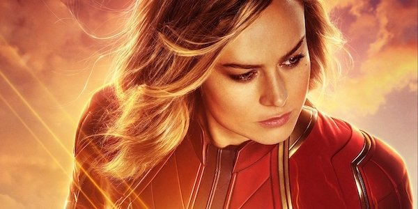Brie Larson as Captain Marvel in movie poster