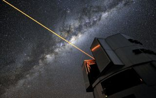 ESO's Very Large Telescope with Laser Beam