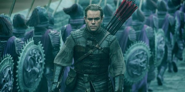 Matt Damon Great Wall Man bun