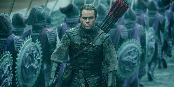 Matt Damon Great Wall Man bun