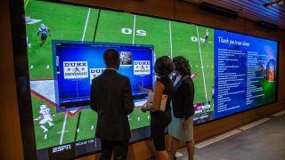 Duke University Planar LED MultiTouch video wall