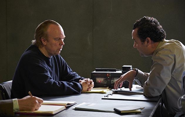 The Interrogation of Tony Martin - L-R Tony Martin (Steve Pemberton) and DC Peters (Danny Mays)
