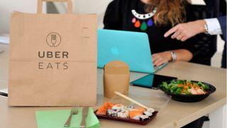 Uber Eats delivery for home worker