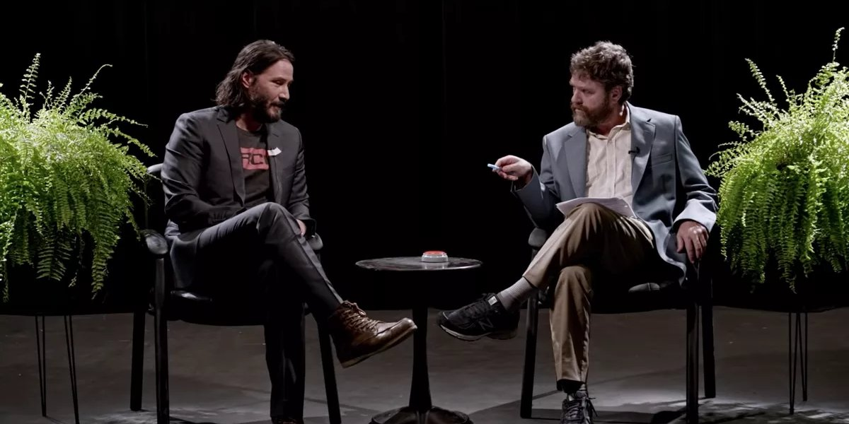 Zach Galifianakis interviews Keanu Reeves in Between Two Ferns: The Movie