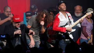 Chris Cornell and Tom Morello at the Anti-Inaugural Ball in January this year
