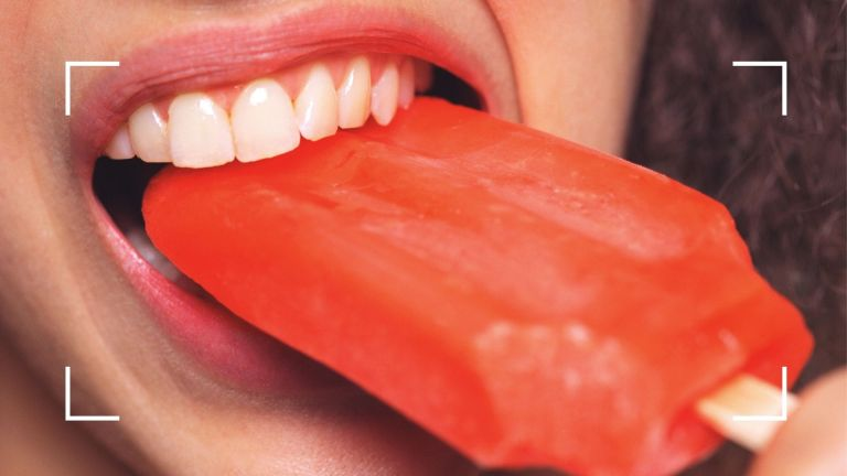 sensitive teeth with ice lolly