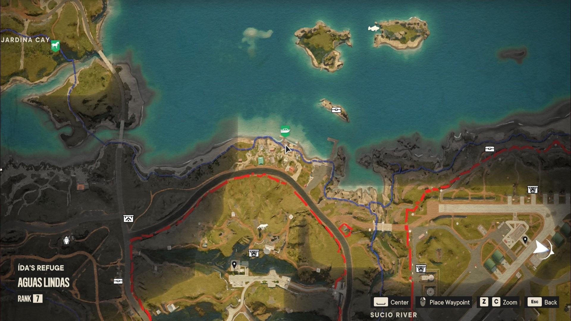 A Far Cry 6 Criptograma chest location on the north coast of Madrugada