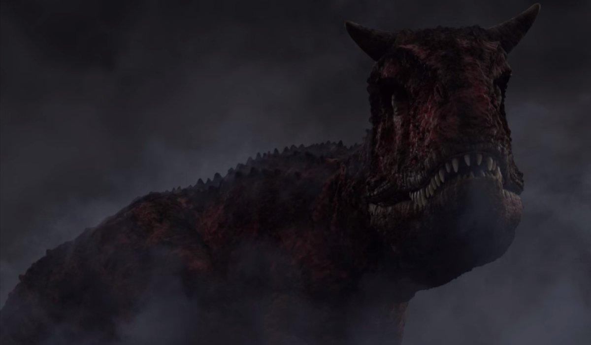 Jurassic World: Camp Cretaceous Toro stands in the smoke