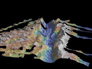 a view of the Romanche ridge in the Mid-Atlantic
