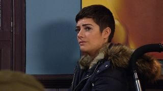 Victoria Barton is concerned for Wendy in Emmerdale
