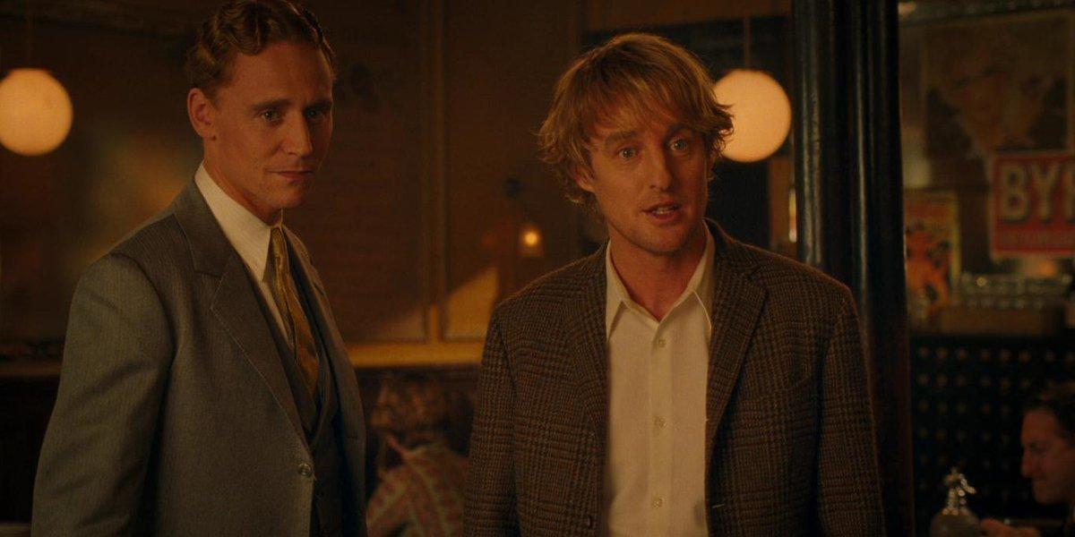 Tom Hiddleston and Owen Wilson in Midnight in Paris