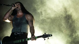 Peter Steele of Type-O Negative performs on stage on May 17th 1997 in Eindhoven, Netherlands