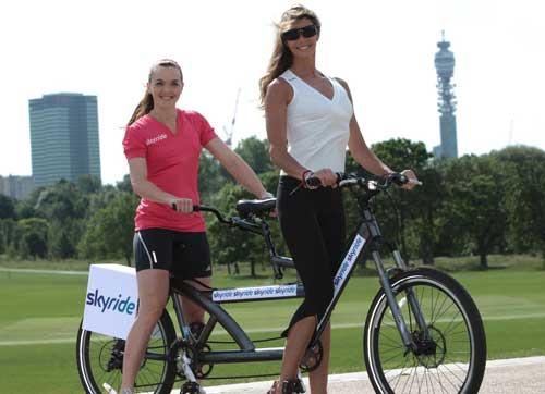 Skyride, British Cycling, Victoria Pendleton, Elle Macpherson