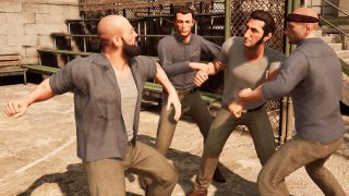 Leo and Vincent are being chased through a hospital by police. Writer and  director of A Way Out, Josef Fares, controls Vincent, while I control Leo.