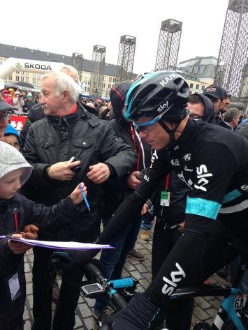 Chris Froome at the start