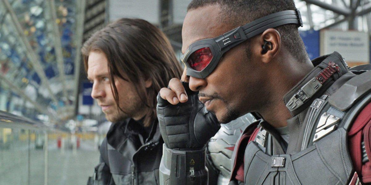 Winter SOldier and Falcon in Captain America Civil War