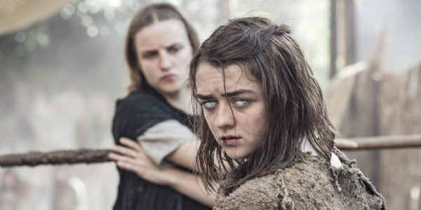 Arya Stark staff fighting