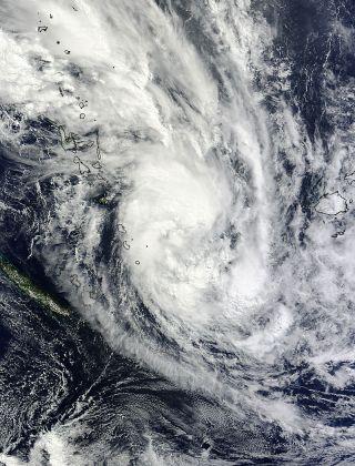 Tropical Storm Daphne as seen by NASA Terra satellite