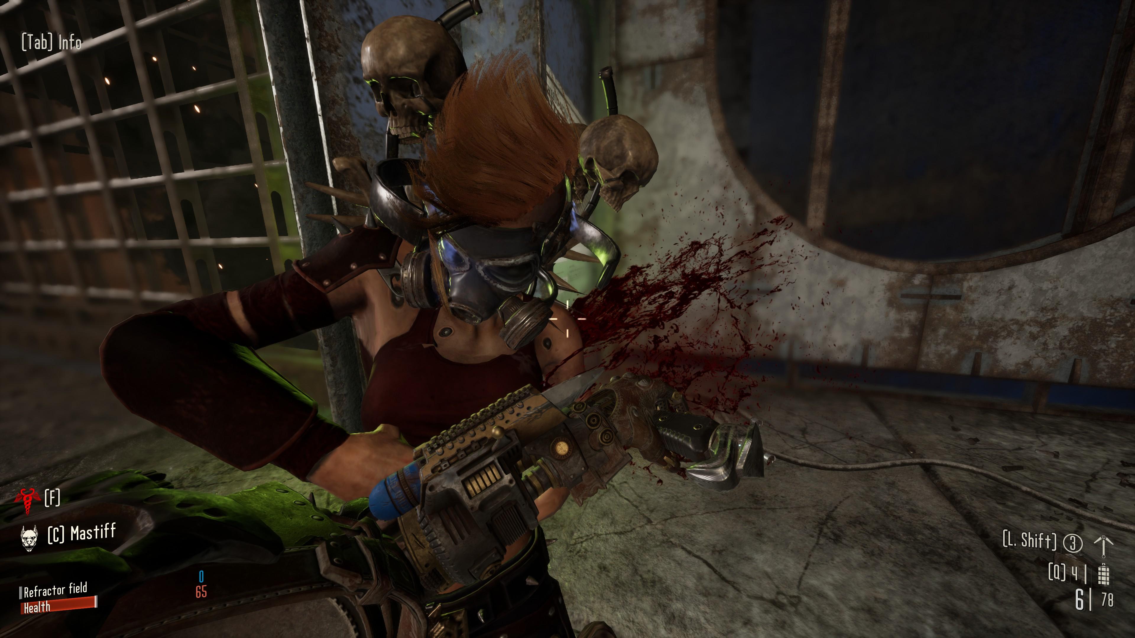 A gory melee kill on a Necromundan ganger