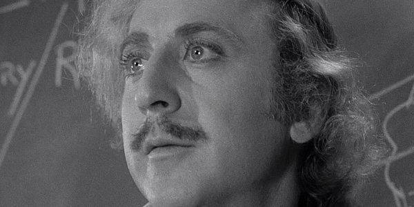 Young Frankenstein Gene Wilder Dr Frankenstein looks out at his students
