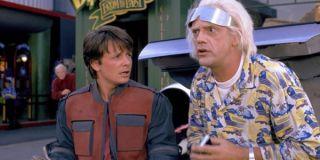 Back to the Future Part 2 Christopher Lloyd Michael J. Fox