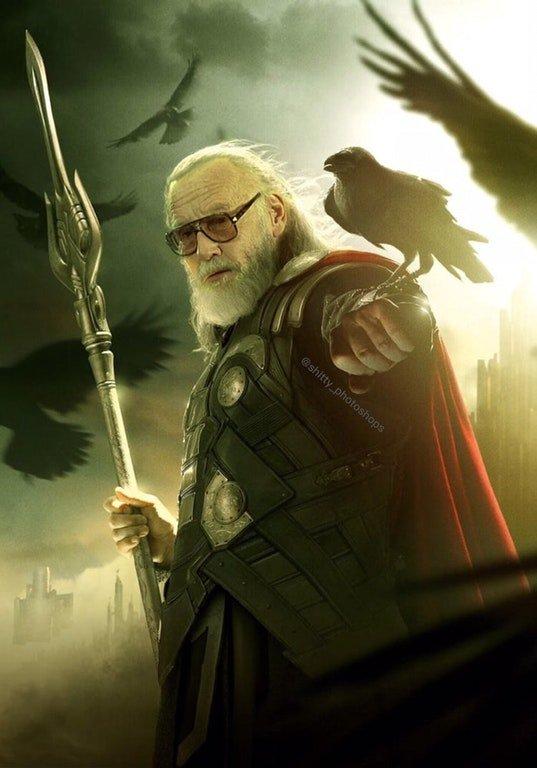 Stan Lee as Odin