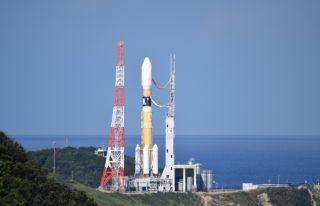 An H-IIB built by Mitsubishi Heavy Industries Rocket carrier The Japan Aerospace Exploration Agency's HTV-8 cargo ship will be on its launch pad at the Tanegashima Space Center on September 24, 2019.