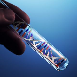 dna molecule in test tube
