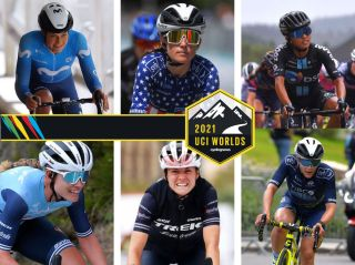 Composite image of six riders on USA Cycling's women's squad for 2021 World Championships
