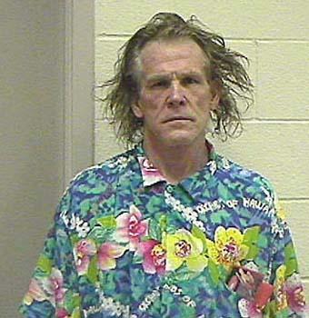 Nick Nolte mug shot in 2002