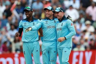 England celebrate against Australia - England's Cricket World Cup game will be shown for free