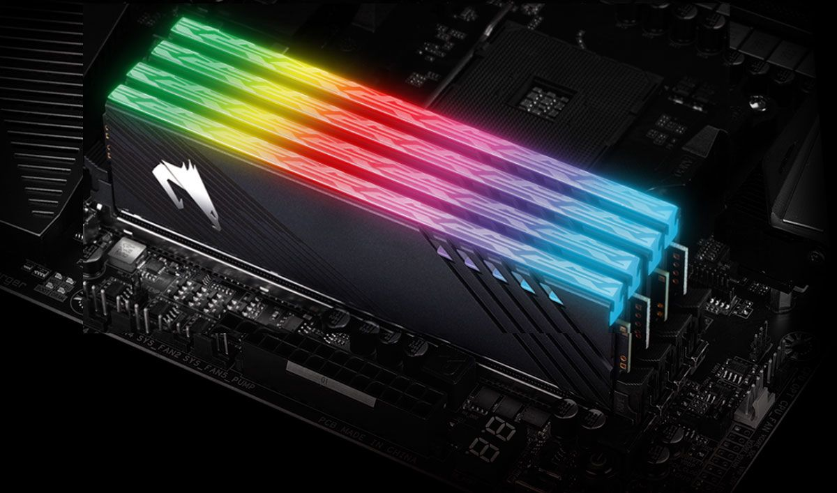 This RGB memory kit runs faster in certain Gigabyte Aorus motherboards