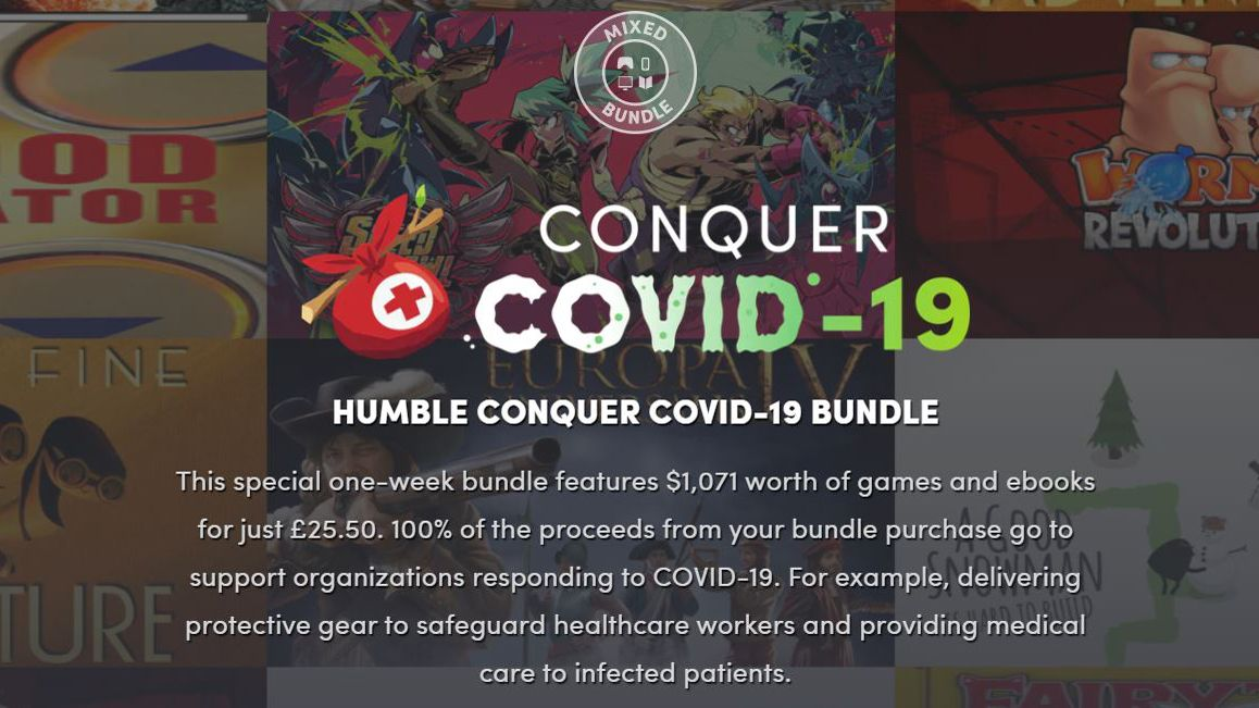 Humble Bundle's Conquer Covid-19 bundle offers $1,000 worth of games and books for just $30 - TechRadar India