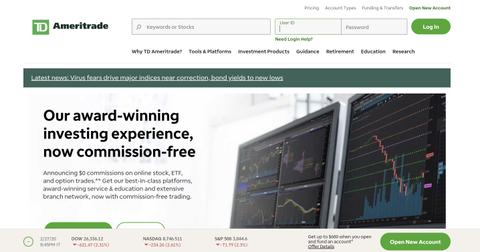Td ameritrade commission free options trades
