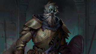 An armored undead warrior