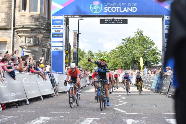 Alison Jackson takes victory at stage two of the Women's Tour of