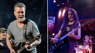 Eddie Van Halen and Marty Friedman
