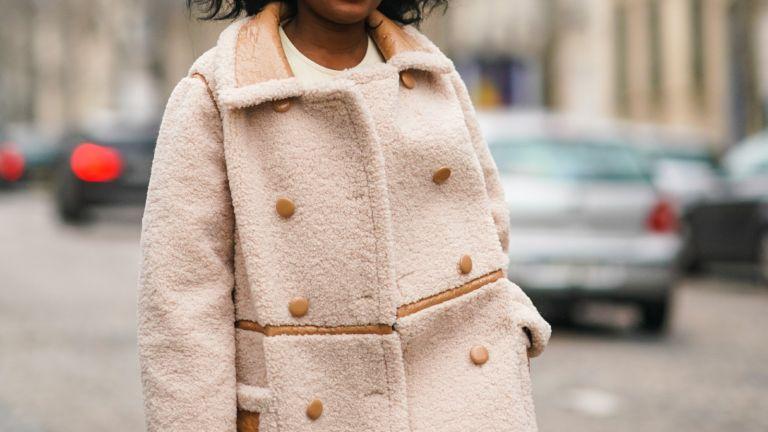 best winter coats: woman wearing winter coat street style