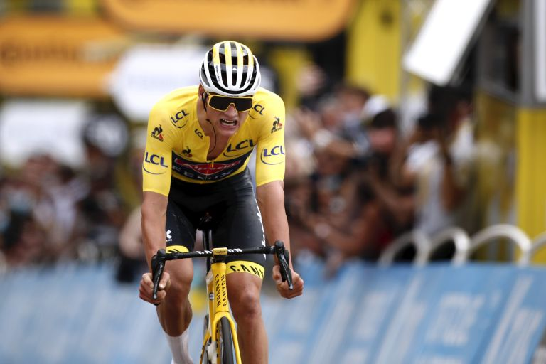 Mathieu van der Poel went into the break to keep hold of the yellow jersey at the Tour de France 2021