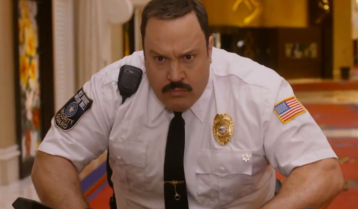 Paul Blart: Mall Cop Kevin James scowls on his Segway