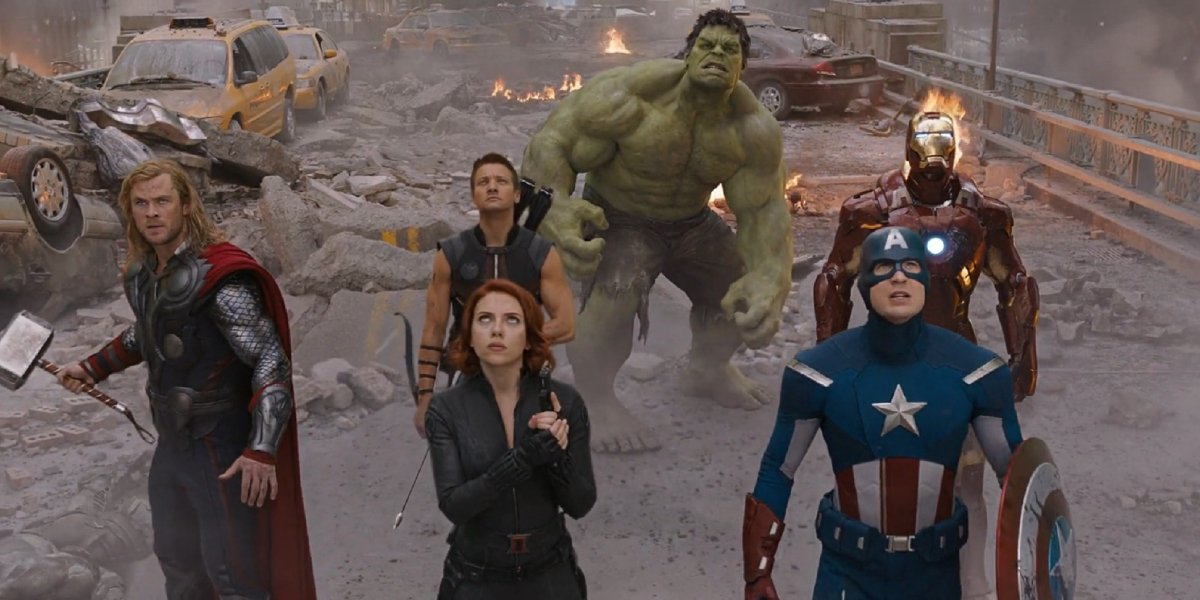 The cast of The Avengers