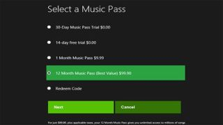 Xbox Music US pricing