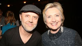 Lars Ulrich and Hillary Clinton