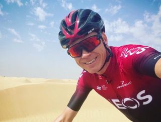 Chris Froome returns to racing at the UAE Tour
