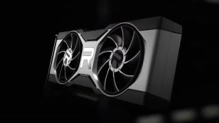 AMD RX 6700 XT graphics card render on black background