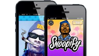 Share a spliff with Snoop Dogg in Snoopify sticker app