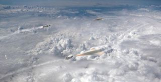 An artist's concept of DARPA's Glide Breaker anti-hypersonic-weapon system.